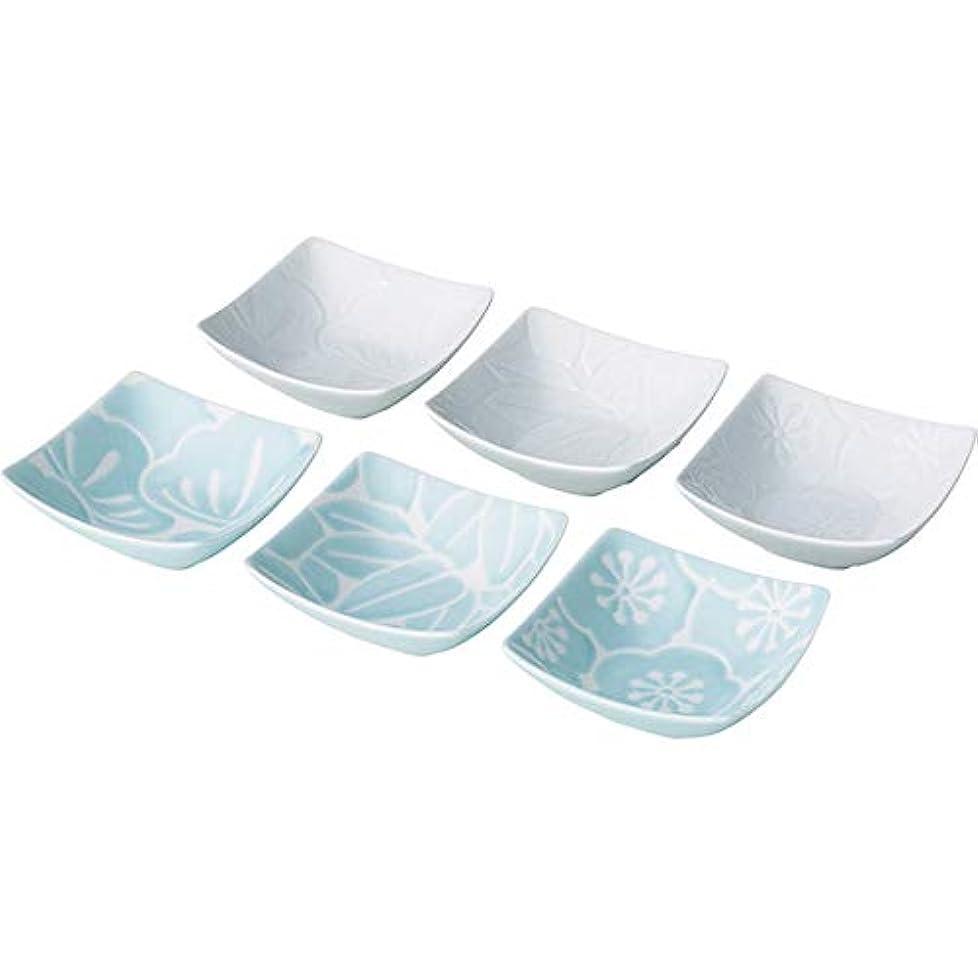 代わりに誇大妄想不注意西海陶器(Saikaitoki) 小鉢 水色 8×8×3cm