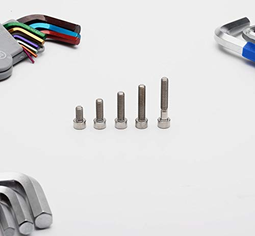 YELLAYBY Tonking Threads Twnium SHIRTER METRIC TITANIO M5 Hexagon Socket Bolts 1 PCS (Length : 12mm, Thread Diameter : M5)