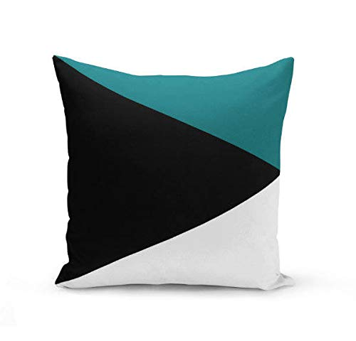 Color Block Pillow Covers in Black