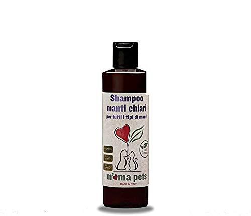 M' MA PETS Shampoo Sbiancante per Cani - Pulisce e Ripristina Il Naturale Colore dei Manti Chiari - 250 Ml