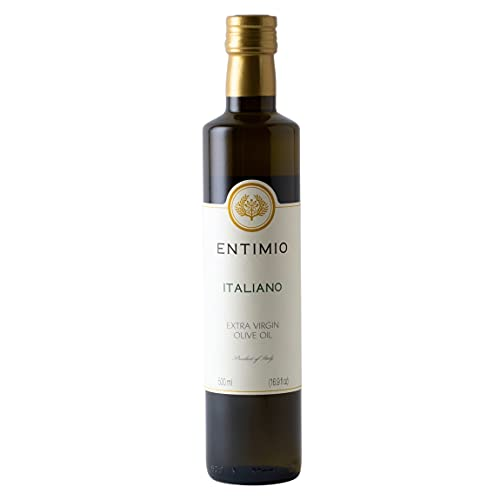 Entimio Pruneti   Delicate Organic Olive Oil Extra Virgin   2019 Harvest Italian Olive Oil, Italy, Tuscany, Award-Winning   Early-Harvest, High Polyphenol, Keto Friendly   16.9 (2 x 8.5) fl oz