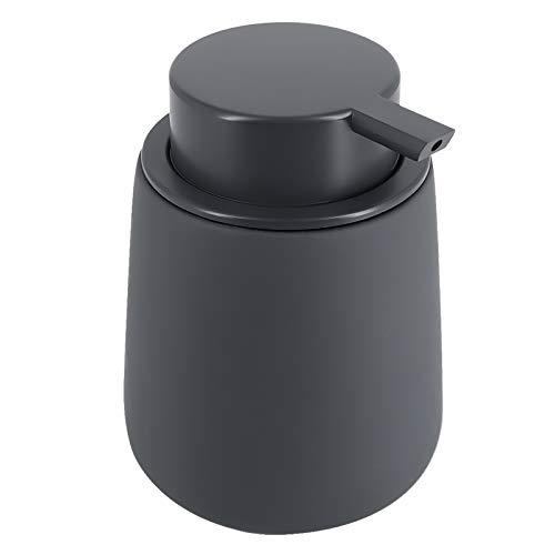 ALIMOTA Seifenspender, 350 ml, Keramik, einfach zu befüllen, Handseifenspender, Shampoo, Lotion, Seifenspender-Flasche mit Seifenspender, Pumpe, für Badezimmer, Küche, Waschbecken, Büro, Hotel, Grau