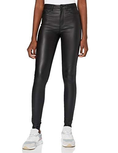 Preisvergleich Produktbild Noisy may Damen NMCALLIE HW Skinny Coated Pants NOOS Hose,  Black,  XL 30