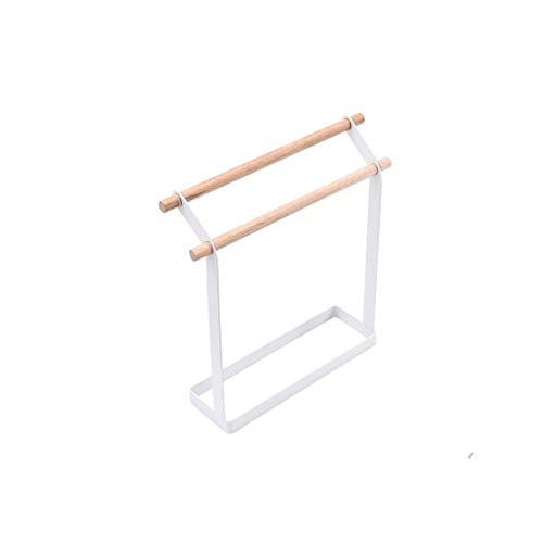 LYMJJ Extraíble coaxial de Toallas en el baño y Sala de Estar, Metal de bajo toallero Estante