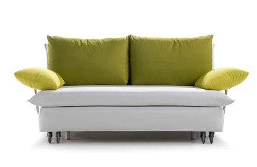 Schlafsofa La Luna, 145x213cm, Sofa mit Schlaffunktion von Signet - Weiss