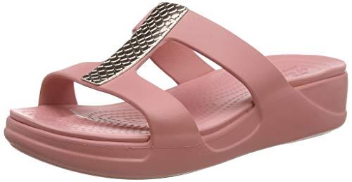 Crocs Damen Monterey Metallic Wedge Sandalen, Pink (Blossom/Blossom 61z), 37/38 EU