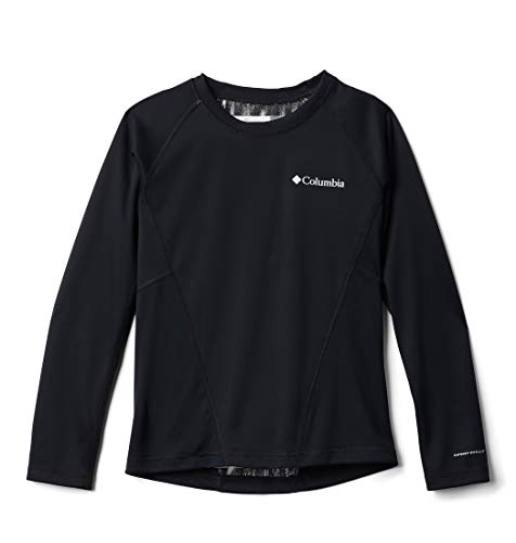 Columbia Midweight Crew 2 Camiseta térmica de Manga Larga, Unisex niños, Black G, S