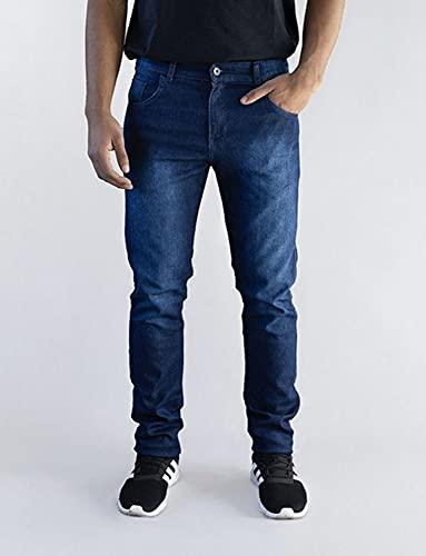 Calça Jeans Masculina Versatti Slim Tradicional Milão Azul Tamanho 42, Cor Azul
