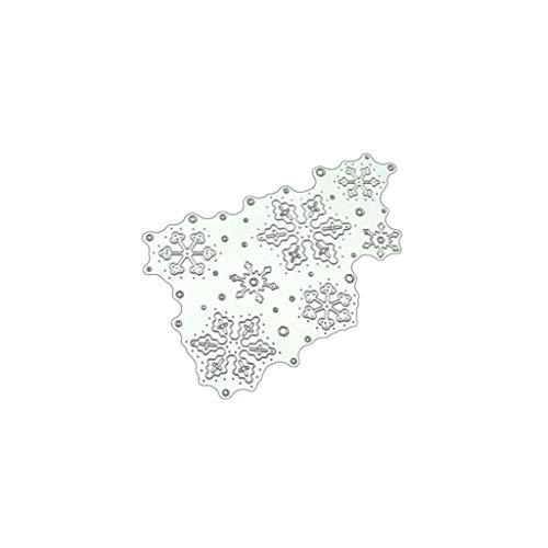 Metallstanzschablone, Schneeflocken-Muster, für Scrapbooking, Album, Papier, Karten, Basteln
