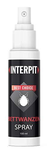 Interpit BETTWANZEN Spray, Hochwirksam bei der Bettwanze - Biologische bekämpfung & Mittel zur Schädlingsbekämpfung für Matratzen und empfindliche Oberflächen - Anti Ungezifer | 100ml