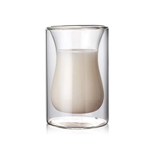 WUCHENG 1 stücke / 3 stücke Weinglas Trinken Whisky Wodka Cup Kaffee Saft Wasser Tasse Tee Set Kreative Tasse Doppelglas Großhandel Weinglas (Color : 3pcs 120ml)