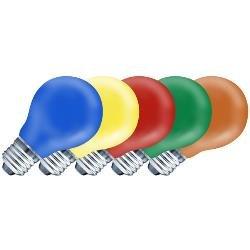 10er Pack Ersatzleuchtmittel E27 25W farbig sortiert