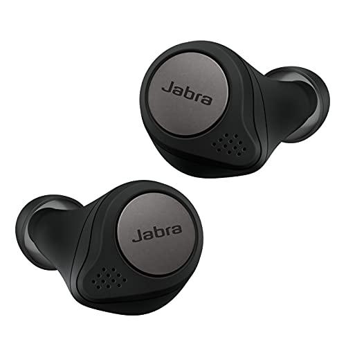 Jabra Elite Active 75t Écouteurs sport sans fil avec réduction active du bruit et autonomie élevée de la batterie pour appels et musique – Noir titane