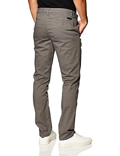 WT02 Men's Long Basic Stretch Skinny Chino Pant, Grey(New) 36X32