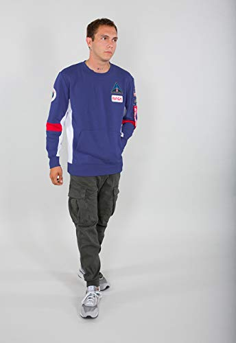 Alpha Industries Space Camp Sweater Nautical Blue