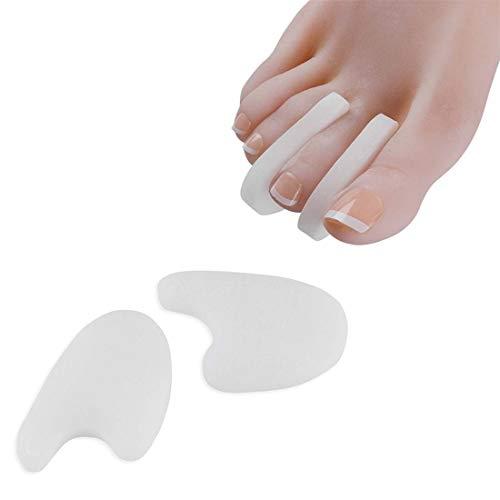 Maosjeq 10 PCS Silicone Orteil Orthèses Grand Orteil Orthèses Séparateur Orteil Conception Peigne Nail Cover Réparation Pied Protecteur