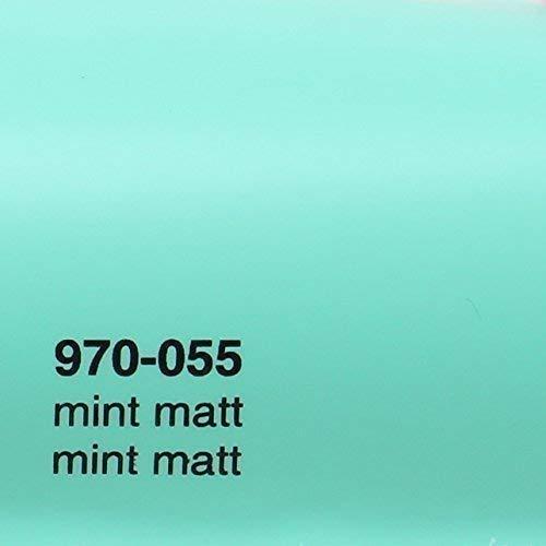 20,72€/m² Oracal 970RA 055 Matt Mint gegossene Profi Autofolie 152cm breit BLASENFREI mit Luftkanäle