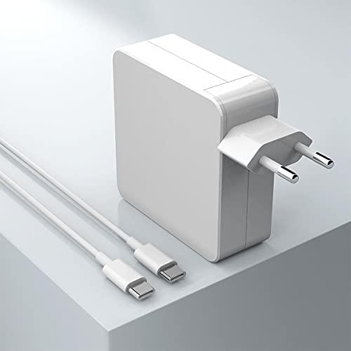 Cargador USB C Compatible con el Cargador Mac Book Pro, Funciona con el Adaptador de Corriente USB C 87W para Mac Book Air después de 2018, Funciona con USB C 87W 61W 30W 29W, Incluye Cable de Carga