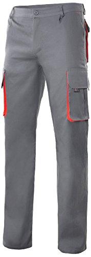 Velilla 103004 - Mehrtaschenhose (Größe 44) Farbe grau und rot