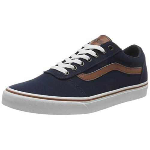 Vans Ward Canvas, Sneaker Uomo, C L Vestito Blues Bianco, 42 EU