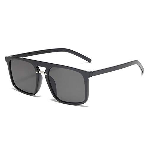 ZZOW Gafas De Sol Cuadradas De Gran Tamaño con Puentes Dobles De Moda para Mujer, Gafas De Sol con Gradiente Tintadas De Diseñador De Marca, Gafas De Sol Retro para Hombre