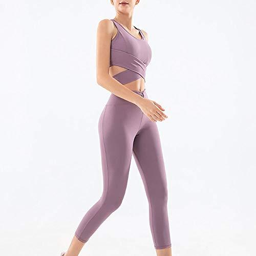 Yoga Outfits Vrouwen Twee Stukken Gym Yoga Kleding Halter Sport Crop Tank Top Tube BH En Hoge Taille Workout Suit Set
