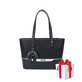 Olivia & Gallantry Sac à main femme M-7190-12 + Cadeau surprise, Sac Cabas Femmes PU Cuir ECO Grand Sac a Main Travail…