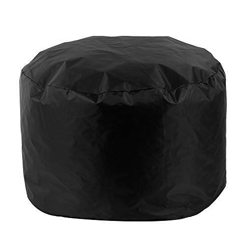 bottlewise Round Fire Pit Cover Dustproof Waterproof Heavy Duty Breathable Furniture Covers Outdoor Garden Patio Protective Cover for Stove (Small-85x40cm, Black)