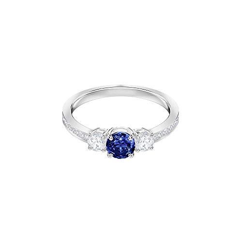 Swarovski Mujer Acero Inoxidable Anillo 5448879, Azul