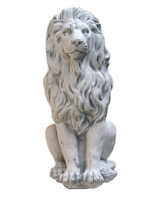 Löwe, Skulptur aus Steinguss, Figur