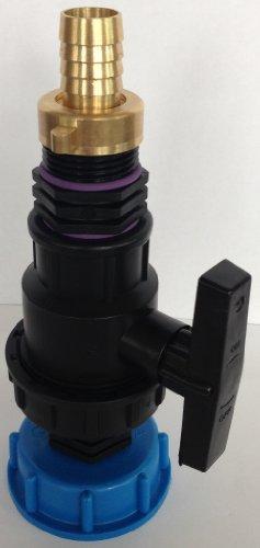 CMS60135948298 Bec d'écoulement avec robinet à boisseau sphérique en plastique + raccord double filetage 1\