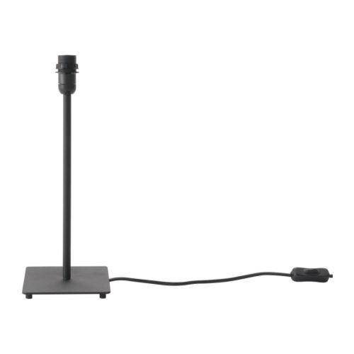 IKEA HEMMA Tischleuchtenfuß in schwarz; (35cm)
