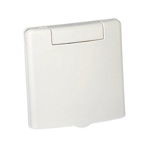 Plastiflex Saugdose quadratisch Design VEX-S Farbe Weiss, Zentralstaubsauger Steckdose, 80x80mm, 2 Kontaktstifte, Öffnung 36-38mm