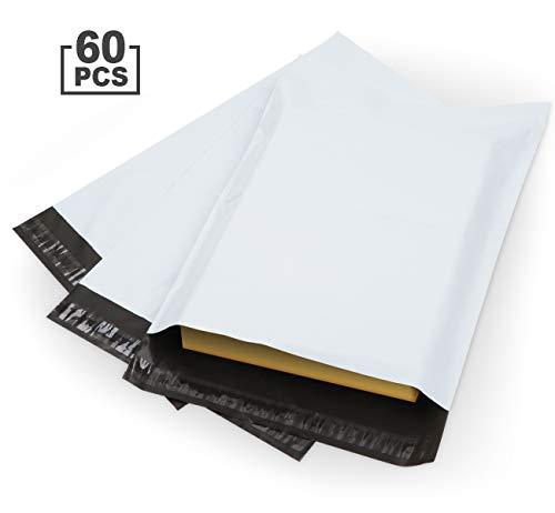 Anstore 60 Versandbeutel Plastik Versandtaschen 300x400mm, selbstklebend und blickdicht, Versandtüten aus Plastik für Kleidung und Textilien, Weiße