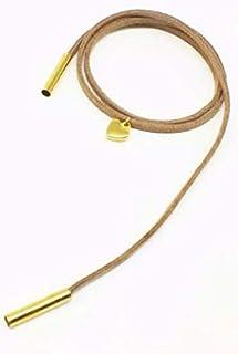 Women's Brown Metal Bracelet with Gold Pendants