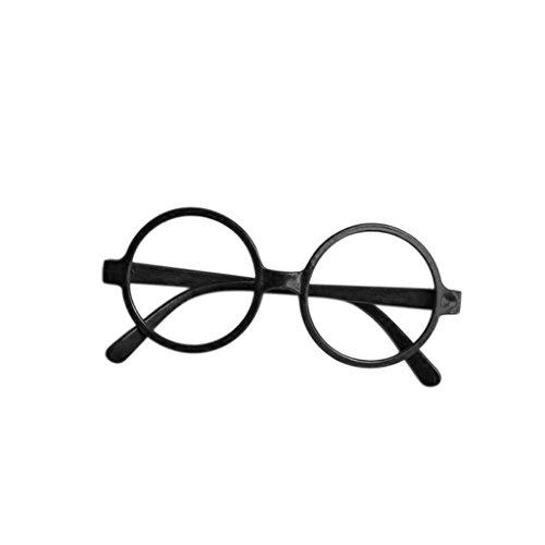 Fogun 1Pc Runde Gläser Rahmen Keine Linsen Brillen Posing Requisiten Kostüm (schwarz)
