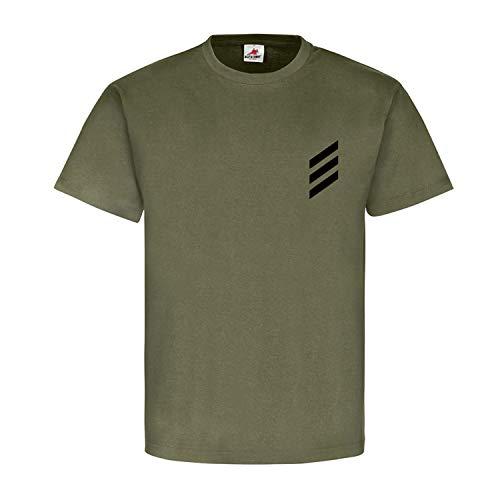 Hauptgefreiter Dienstgrad Bundeswehr BW Abzeichen Schulterklappe T Shirt #15873, Größe:S, Farbe:Oliv