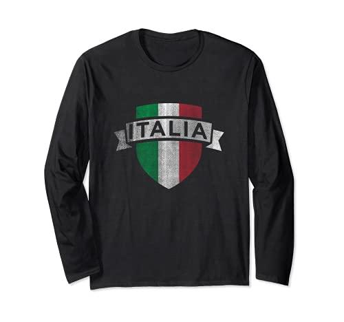Stampa Italia - Vintage - Maglia Calcio Italiano Style Maglia a Manica