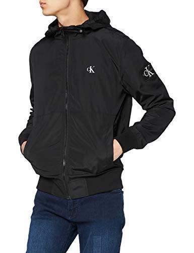 Calvin Klein Jeans Essentials Hooded Bomber Giacca a Vento, CK Nero, M Uomo