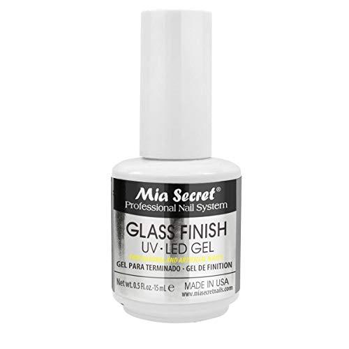 Mia Secret Chrome Mirror Nail Powder Glass Finish UV LED Gel (GLASS FINISH GEL)