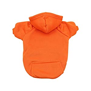 YAODHAOD Dog Hoodie Cotton Basic Dog Casual Sweatshirt Knitwear for Kittens and Puppies Pet Clothing