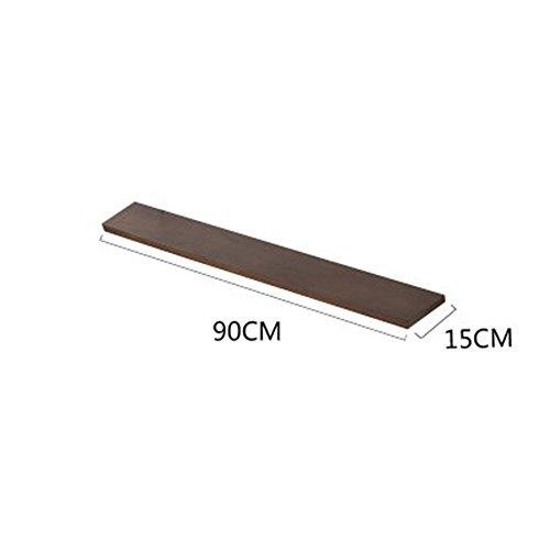 Rekken DUO Rekken Houten Zwevende Plank 120cm/90cm/60cm/30cm Rekken 90cm Walnoot