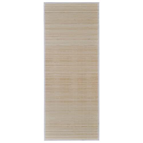vidaXL Alfombra de bambú Natural Cuadrada, 80 x 300 cm