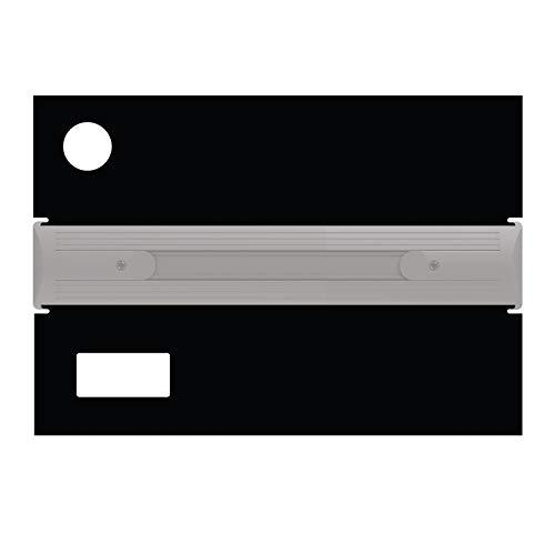 iQuatics Universeel/Juwel compatibele vervangingsklepset met Skimmer/Feeder Gaten, Rio 125, Zwart