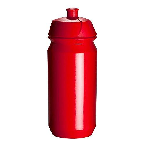 Tacx Trinkflasche Shiva Biologisch abbaubar, rot, 500 ml, Mit Screw-on Kappe, durch die große Öffn