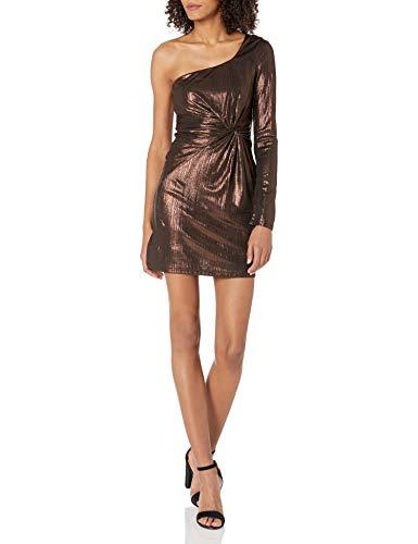 ASTR the label Damen Silvia One Shoulder Party Dress Kleid, Fudge, X-Klein