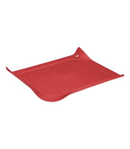 Secret de Gourmet - Planche à découper Rouge avec rebord 30 x 26.5 cm collection Néo