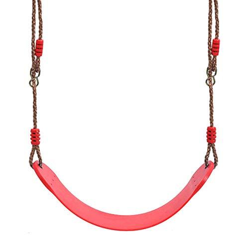 Columpio Juegue del Juego de jardín Interior Suave para niños, Silla Colgante de Patio al Aire Libre, rodamiento de Carga 150kg (Color : Red)