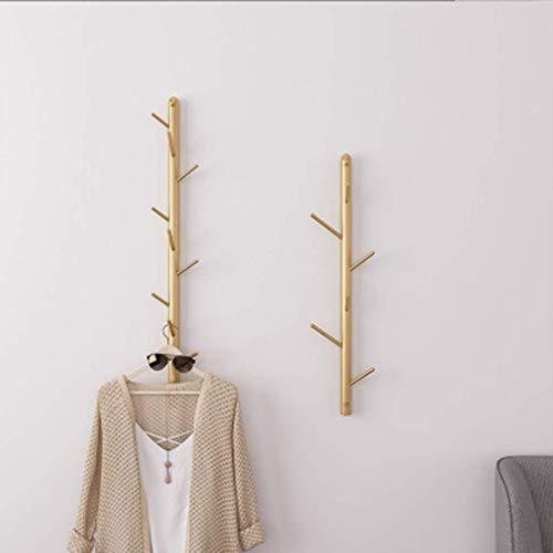 Nfudishpu Wandgarderobe Handtuchhalter Metalltür für Wohnzimmer Bad Korridor Mode Gold Für Bad, Küche