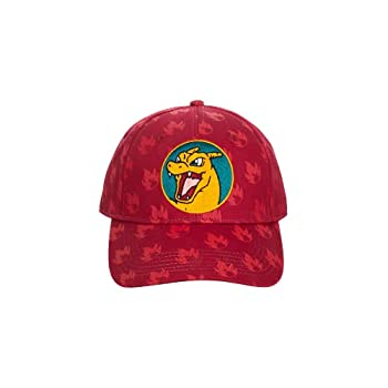 Pokemon Anime Charizard All Over Print Red Snapback Hat